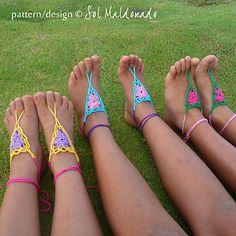 Ravelry: Barefoot Sandals Crochet Childs Girl sandles pattern by ...