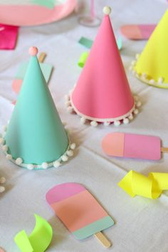 Popsicle Party for Carmendy's Birthday! - Ice Cream Off Paper Plates Diy Unicorn Birthday Party, Girls 3rd Birthday, Birthday Party Games For Kids, 3rd Birthday Parties, Birthday Ideas, Popsicle Party, Diy Party Supplies, Ice Cream Social, Ice Cream Party