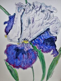 Iris Bouquet, Mirrors, Wall Decor, Vase, Japan, Create, Artwork, Pictures, Painting