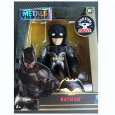 The Batman v Superman Dawn of Justice: Die Cast Batman figure, from Jada Toys, is a four-inch, stylized figure of the Caped Crusader. - See full review on ttpm.com