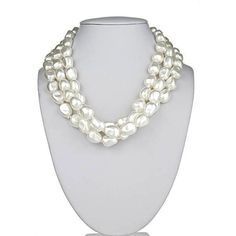 The perfect chunky, pearl necklace for every woman's jewelry collection. Twist it for an elegant look or let the strands lay flat as shown. This piece ...