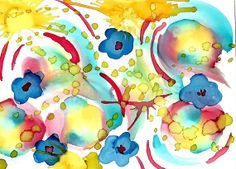 Original Alcohol Ink Painting ACEO