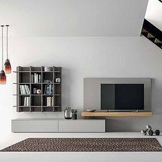 Essential, minimalist 'Adamo' TV Unit. Beautiful design and high quality materials, great centrepiece. My Italian Living.