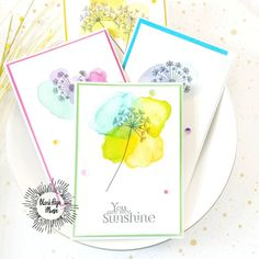Created by Samantha Ziegenfuss using the Dandelion Wishes with Butterflies stamp set by Terri Sproul Watercolor Tips, Watercolor Cards, Butterfly Art, Butterflies, Make Your Own Card, Dandelion Wish, Blank Page, You Are My Sunshine, Sympathy Cards