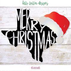 Texas Christmas | Texas svg | Merry Christmas svg | Santa Hat svg | Cutting File…                                                                                                                                                                                 More
