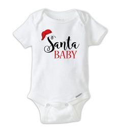 Santa Baby ChristmasOnesie Baby Bodysuit, Funny Christmas Onesies