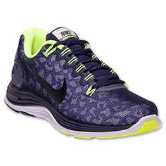 Women's Nike Lunarglide 5 Shield Running Shoes| FinishLine.com | Purple Dynasty/Black/Laser Orange