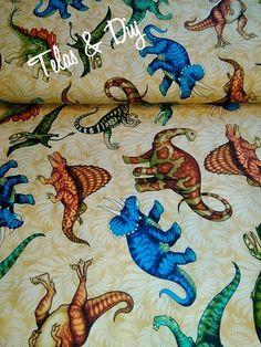 Telas estampadas - Fat Quarter Patchwork Jurassic Jungle - hecho a mano por telas-diy en DaWanda