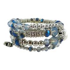 Blue Memory Wire Bracelet - Bing images