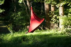 Happy in my Cacoon. Single Cacoon in chili red from www.cacoonusa.com
