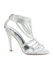 Silver High Heels For Quinceanera