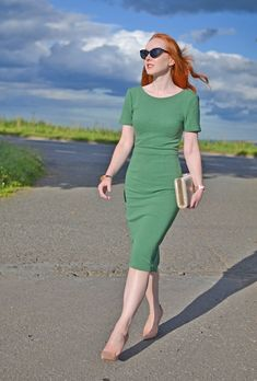 Boden Elsa Ottoman dress in green
