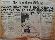 The Johnstown Tribune - World War II: September 15, 1943: YANKS BEAT OFF FIERCE GERMAN A...