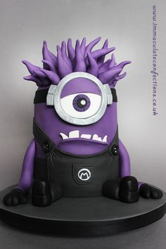 Evil Purple Minion Cake - Cakes by Natalie Porter - Hertfordshire and Essex