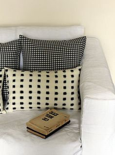 Image of Scatter Cushion - Ikat Grid
