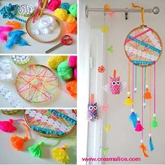 A great tutorial to make dream-catchers. To translate the page to English, if…