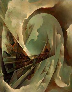 Tullio Crali, Cielo in acrobazia, 1970 Olio su tela, 100x80cm