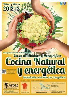 cursos sobre cocina natural y energetica en bilbao.