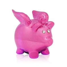 I love the Sicura Italian Designs Flying Pig Bank from LittleBlackBag!  She's pink with adorable rhinestone eyes! What a fun way to save my change!