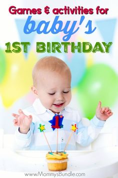 The Best Party Games for Baby's First Birthday - So many FUN games to play! Celebrate baby& first birthday with these practical party ideas ba - 1st Birthday Activities, 1 Year Old Birthday Party, Toddler Party Games, Birthday Party Games For Kids, Baby Boy First Birthday, Party Activities, Infant Activities, First Birthday Parties, Birthday Ideas