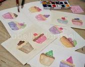 Nuovi pasticcini ad acquerello personalizzabili per un Natale anticrisi e handmade! : Dipinti di isabella-martinelli