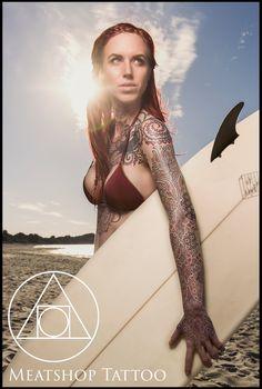 Sleeve tattoo by Meatshop