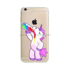 Cute Hippo Rainbow Unicorn Horse Gel Clear Tpu Phone Case For Apple Iphone Se 5 5s 6 6s Plus 6plus Soft Back Cover