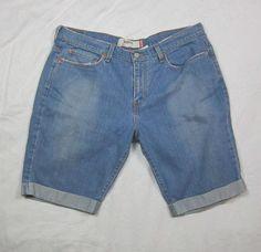 Womens Misses Levi's Levi 515 Denim Jean Bermuda Shorts Size 16 #Levis #BermudaWalking