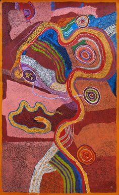 Aboriginal Inspiration: Mick Wikilyiri / Ngayuku Ngura - My Country 122 x 198 cm