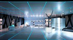 futuristic furniture film TRON