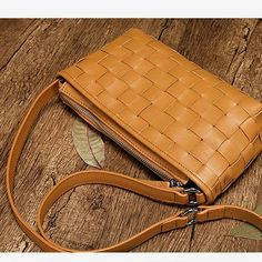 Leather Cem Square Crossobody Bags