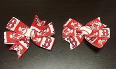 MLB Boston Red Sox Logo  Set of 2 Hair Clips by ByChinchie on Etsy