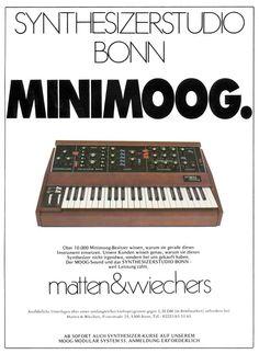 Moog Minimoog Anzeige 1980