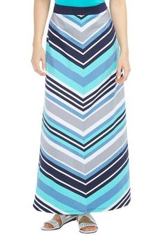 6d97c80fb84  CatoSummerStyle Cato Fashions Mitered Stripe Maxi Skirt-Plus  CatoFashions  Maxi Skirt Style
