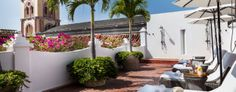 Hotel Casa San Agustin: The light-flooded terrace has the relaxed residential air of a private home. Cartagena, Columbia.