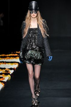 Roberto Cavalli Fall 2012 Ready-to-Wear Fashion Show - Magda Laguinge