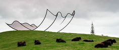 Taking eye-trickery to a whole new level – the otherworldly New Zealand sculpture park Gibbs Farm