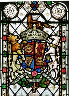 Stained Glass Window, Royal Coat of Arms.