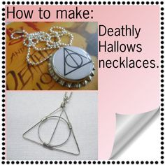 2 Deathly Hallows necklaces, how to. This is so simple, why buy the same thing for so much money?
