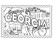 USA-Printables: State of Georgia Coloring Pages - Georgia tradition and culture coloring pages