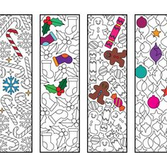 Cute Nature Bookmarks - PDF Zentangle Coloring Page Colouring Pages, Printable Coloring Pages, Adult Coloring Pages, Zentangle, Heart Bookmark, Pokemon Coloring, Anxiety In Children, Christmas Colors, Christmas Holiday