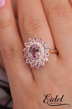 33 Sapphire Engagement Rings By Eidel Precious ❤️ eidel precious engagement rings double halo oval cut floral 1.7f ❤️ See more: http://www.weddingforward.com/eidel-precious-engagement-rings/ #weddingforward #wedding #bride