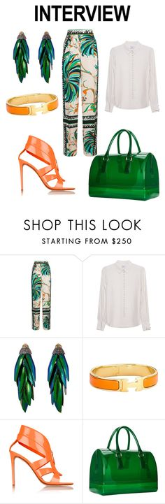 """Interview💼💼"" by fashion-lover2001 ❤ liked on Polyvore featuring Emilio Pucci, Frame Denim, Bibi, Hermès, Nicholas Kirkwood, Furla, jobinterview and 60secondstyle"
