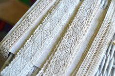 4 yds Crochet trim I Ivory crochet trim I Crochet trim I Crochet I Lace trim I Lace trimming I Shabby chic lace I Vintage lace I Ivory lace by SixthCraft on Etsy