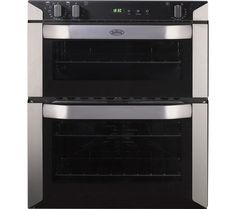 BELLING BI70FP Electric Built-under Double Oven - Stainless Steel