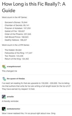 I knew this and let me tell you it was always a shock finding fics these lengths