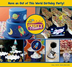 Over The Moon, Out Of This World, Party Themes, Children, Kids, Space, Birthday, Desserts, Fun