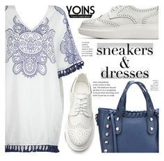 """Sneakers and Dresses With Yoins"" by fattie-zara ❤ liked on Polyvore featuring yoins, yoinscollection, loveyoins and SNEAKERSANDDRESSES"