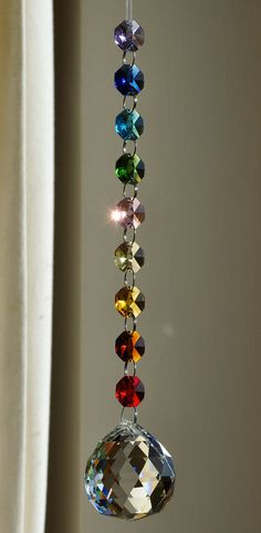 40 mm Crystal Sphere Suncatcher Rainbow por CrystalsAndRainbows, €11.30