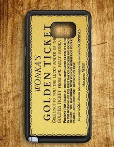 Wonka Golden Ticket Art Samsung Galaxy Note Edge Case